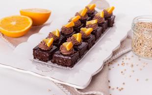 Slasten recept: Pečen čokoladni kolač z ajdovo kašo in ganachem