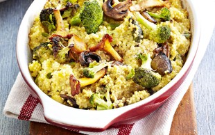 Prosen narastek z brokolijem in gobami