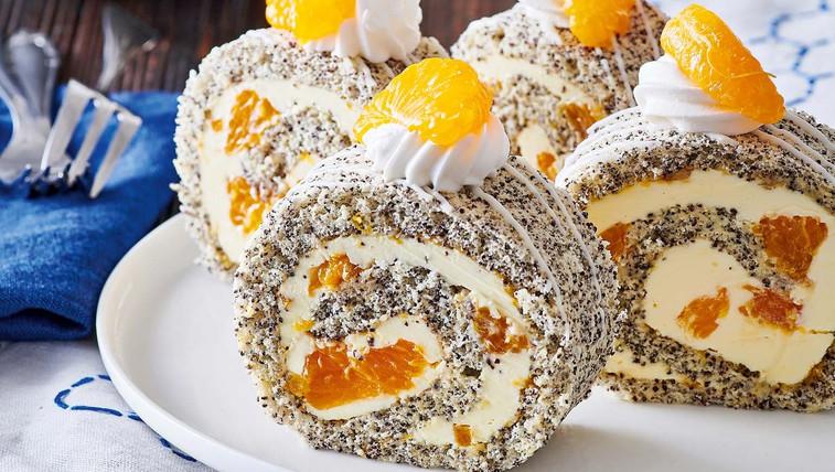 Makova rulada z mandarinami (foto: Profimedia)