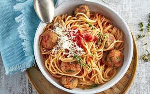 Tunove kroglice s špageti