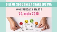 Dileme sodobnega starševstva - konferenca za starše, 20. maj 2019