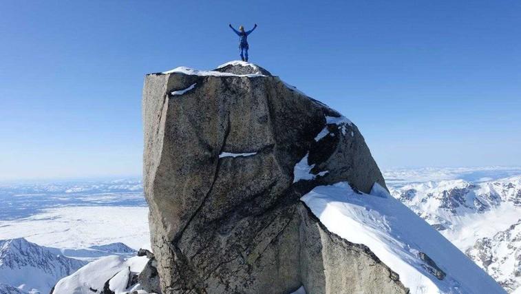 Slovenska alpinista prva osvojila 3 vrhove Aljaske (foto: Janez Svoljšak in Miha Zupin)