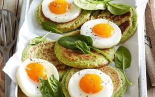Špinačne palačinke z jajci