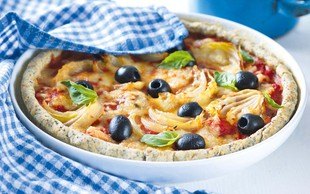 Paradižnikova pita z olivami