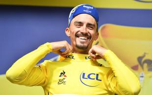 Dirka po Franciji: Julian Alaphilippe še vedno v rumeni majici