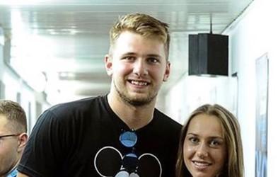 Luka Dončič in Kaja Juvan skupaj v Umagu