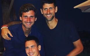 Novak Đoković in njegova dva čedna brata