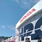 Središče dirkalnega moštva Honda, kjer poteka tudi tiskovna konferenca z Marcom Marquezom. (foto: Osebni arhiv)