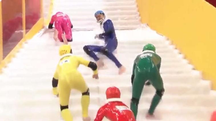 Prvo svetovno prvenstvo v hoji po spolzkih stopnicah (video) (foto: espn)