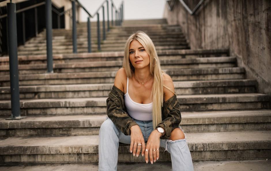 Eva Pavli: Slovenka, ki je napisala himno za EP v odbojki, tako skrbi za kondicijo (foto: Anže Vrabl)