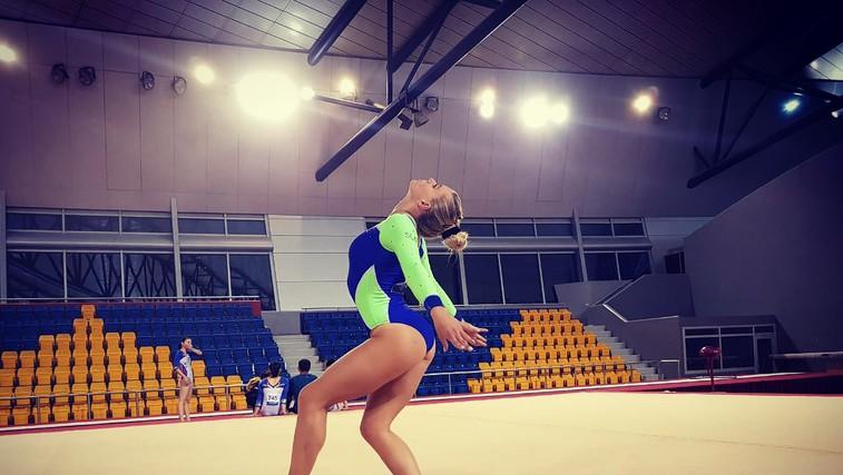 »Mislim, da je gimnastika v Sloveniji premalo cenjena, glede na to, kako težka je« (foto: FOTO: osebni arhiv)